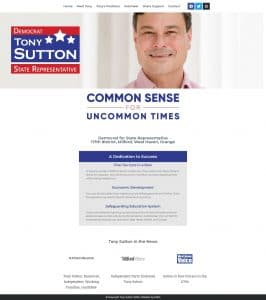 Campaign Website for Connecticut State Senate 2020